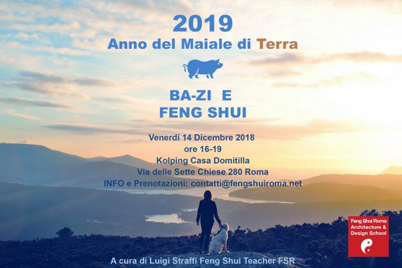 2019 ANNO DEL MAIALE DI TERRA YIN - SEMINARIO DI BAZI E FENG SHUI @ Kolping Hotel Casa Domitilla